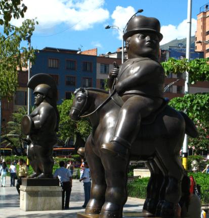 На площади Ботеро в г.Медельин